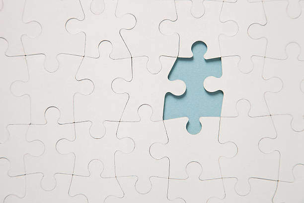 Missing piece in a jigsaw puzzle