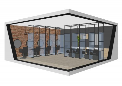 hairdresser partition covid protective screen