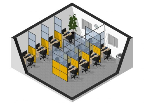 office partition covid protective screen